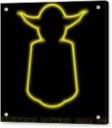 Luminous Yoda Acrylic Print