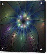 Luminous Fractal Art Acrylic Print