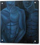 Luna Azul Acrylic Print