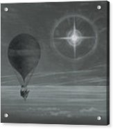 Lunar Halo And Luminescent Cross Observed During The Balloon Zenith's Long Distance Flight Acrylic Print