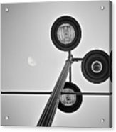 Lunar Lamp In Black And White Acrylic Print