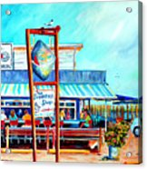 Lunch At The Clam Bar Acrylic Print