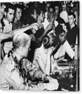 Lunch Counter Sit-in, 1963 Acrylic Print by Granger
