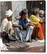 Lunch In Jaipur India Acrylic Print