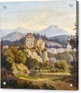 Lunde, Anders Christian Copenhagen 1809 - 1886 Grotta Ferrata. Oil On Canvas. Relined Acrylic Print