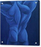Lune Bleue Acrylic Print