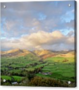 Lune Valley And Howgill Fells Acrylic Print by David Barrett