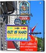 Lunenburg Shop Signs Acrylic Print