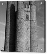 Lusk Round Tower B And W Acrylic Print