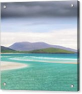 Luskentyre Beach On The Scottish Isle Of Harris .  Acrylic Print