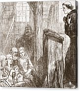Luther Preaching In The Old Wooden Church At Wittemberg Acrylic Print