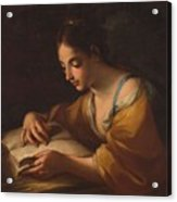Luti, Benedetto Attributed To Saint Catherine Second Half Of The Xvii - Primer Cuarto Del Siglo Xv Acrylic Print