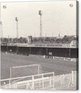 Luton Town - Kenilworth Road - Bobbers Stand West Side 1 - Bw - August 1969 Acrylic Print