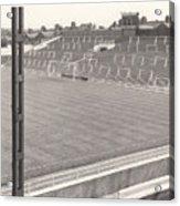 Luton Town - Kenilworth Road - Kenilworth Terrace North Goal 1 - Bw - August 1969 Acrylic Print
