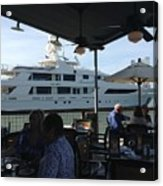 Luxurious Boat In Galveston  Acrylic Print