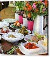 Luxurious Breakfast Buffet  Acrylic Print