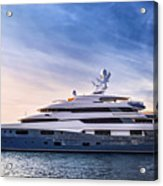 Luxury Yacht Acrylic Print