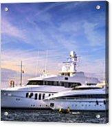 Luxury Yachts Acrylic Print