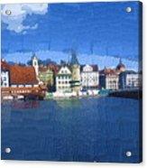 Luzern Lake Front Acrylic Print