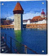 Luzern Tower Acrylic Print