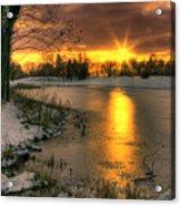 Lydiard Sunset Acrylic Print