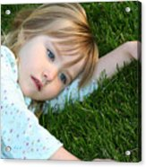 Lying In The Grass Acrylic Print