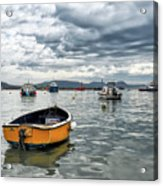 Lyme Regis Harbour - March Acrylic Print
