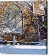 Lynn Central Congregational Church Lynn Ma Winter Acrylic Print