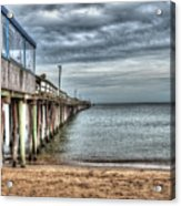 Lynnhaven Fishing Pier, Ocean Side Acrylic Print