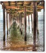 Lynnhaven Fishing Pier, Pillars To The Sea Acrylic Print