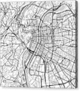 Lyon France Light Map Acrylic Print