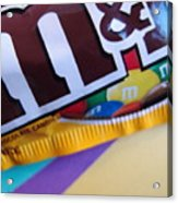 M And M Candy Acrylic Print