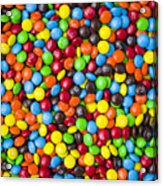 M And M Candy Real Chocolate Minis Acrylic Print