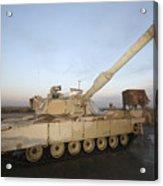 M1 Abrams Tank At Camp Warhorse Acrylic Print