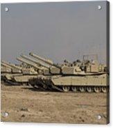 M1 Abrams Tanks At Camp Warhorse Acrylic Print