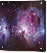 M42, The Orion Nebula Top, And Ngc Acrylic Print by Robert Gendler