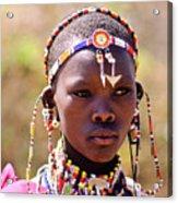 Maasai Beauty Acrylic Print