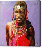 Maasai Moran Acrylic Print