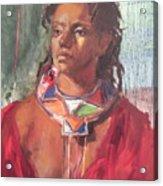 Maasai Pride Acrylic Print