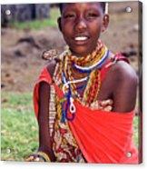 Maasai Teenager Acrylic Print