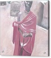 Maasai Tribesman Acrylic Print