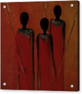 Maasai Trio  Acrylic Print by David Dehner
