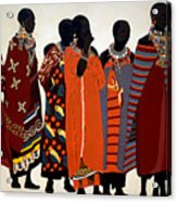 Maasai Women Acrylic Print
