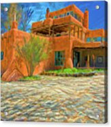 Mabel Dodge Luhan House As Oil Acrylic Print