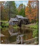 Mabry Mill In Fall 2 Acrylic Print