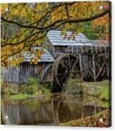 Mabry Mill In Fall 3 Acrylic Print