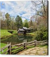 Mabry Mill In The Spring Acrylic Print