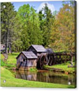 Mabry Mill In The Springtime On The Blue Ridge Parkway  Acrylic Print
