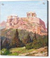 Macco, Georg 1863 Aachen - 1933   The Acropolis Of Athens. Acrylic Print