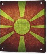Macedonia Distressed Flag Dehner Acrylic Print